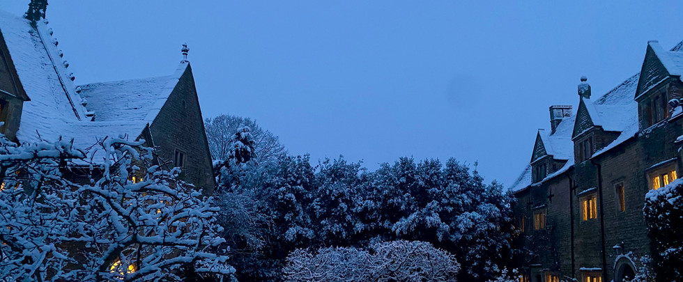 The Manor and the Gatehouse in the Snow