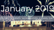 January 2019 Notices (Classes, Workshops, Exams, Comps, Dates)
