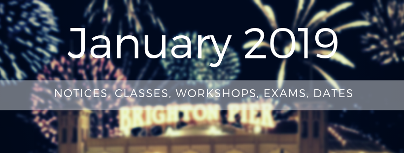 HDC January Notice Classes Workshops Exams Dates
