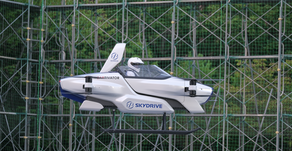 SkyDrive conduct first Japanese flying 'taxi' test