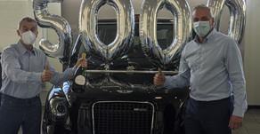 Taxi manufacturer LEVC reaches 5,000th vehicle landmark