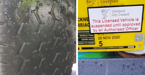 Liverpool taxi suspended after two tyres deemed illegal found