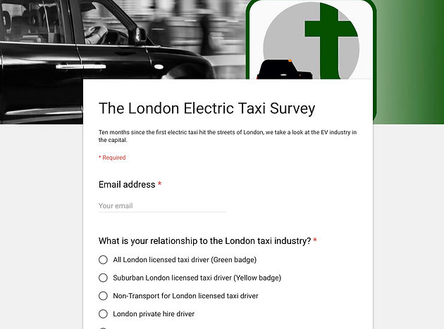 TaxiPoint launch the London EV survey to drivers | TaxiPoint Taxi