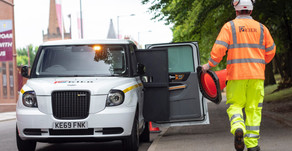 Taxi manufacturers LEVC begin electric fleet trials with construction firm Kier Group