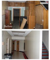 Before/After Staircase Hallway