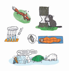 Vignetten aus der Nature Zoom Reihe (Coppenrath Verlag)
