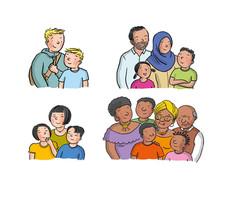Unterschiedliche Familien