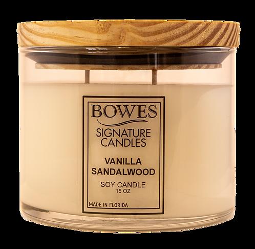 VANILLA SANDALWOOD   BOWES CANDLE