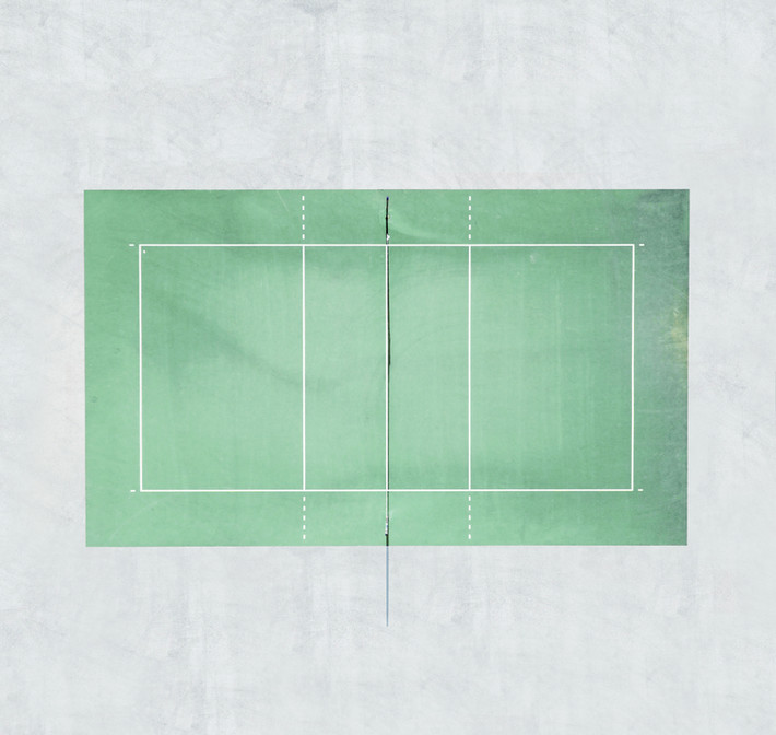 Tennis court green!