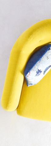 Modern yellow sofa