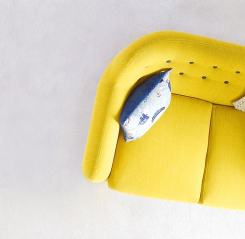 Lemon Yellow Sofa