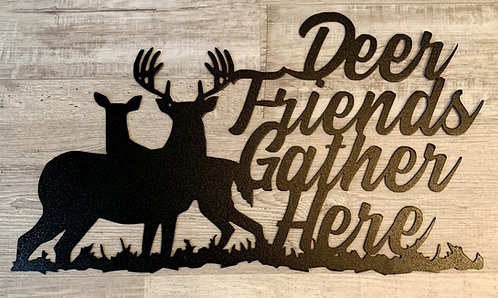 Deer Friends Gather Here