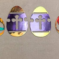 Easter Egg with Cross