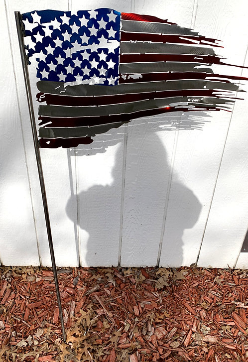 Tattered Flag on a stake