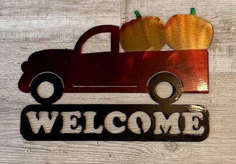 Welcome Pumpkin Truck