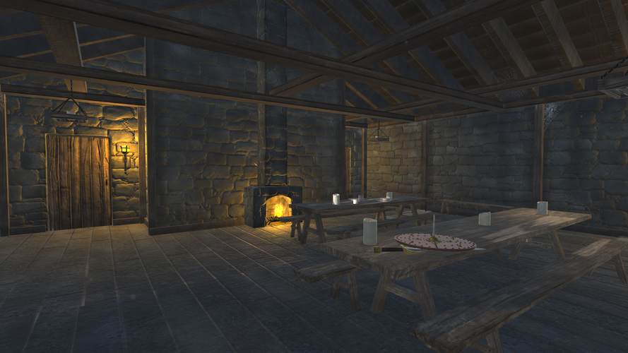 Medieval Dining Hall - Shot 2