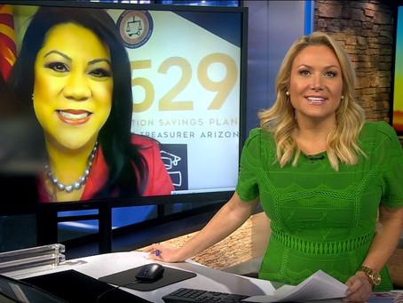 """Arizona Treasurer Kimberly Yee on Channel 3- """"Giving the Gift of Education"""" AZ529"""