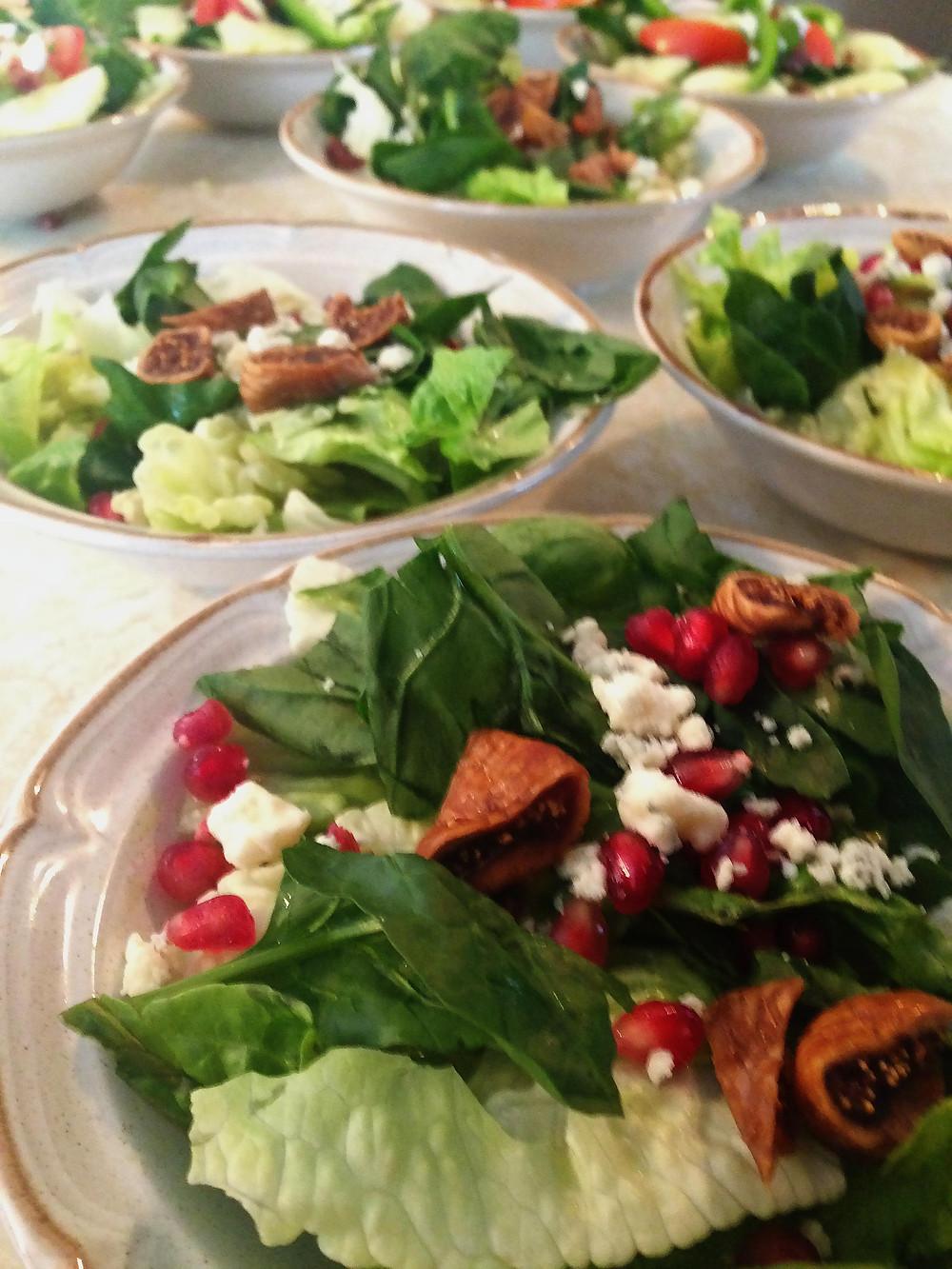 Bleu Cheese, Pomegranate & Fig Salad