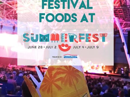 Top 4 Festival Foods at Music Festivals   Summerfest 2017