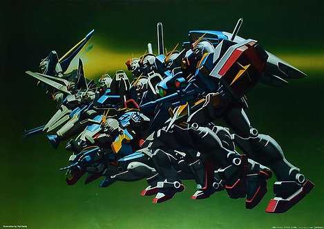 Original Mobile Suit Gundam Anime Poster