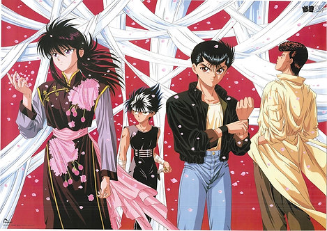 Original Yu Yu Hakusho Vintage Anime Poster - CONDITION