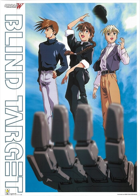 Original Mobile Suit Gundam Wing Vintage Anime Poster