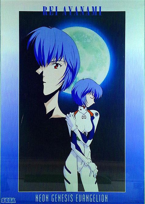 Original Neon Genesis Evangelion Rei Ayanami Poster - SLIGHT TEAR
