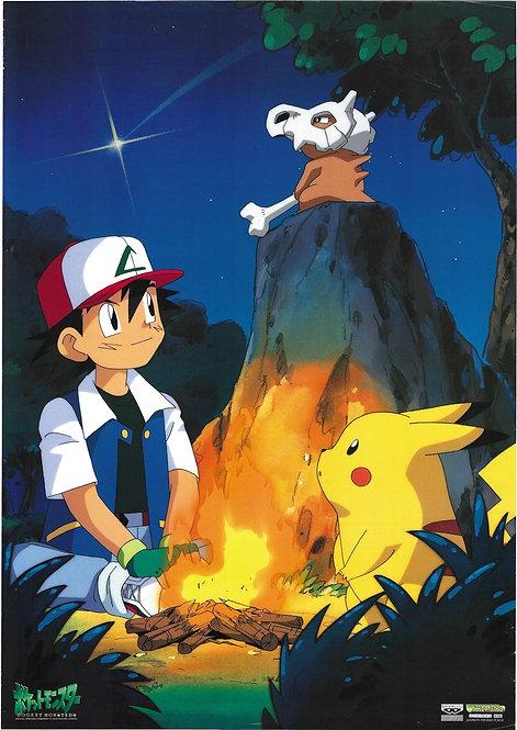 Original Pokemon Vintage Banpresto Anime Poster