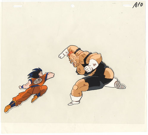 Original Dragon Ball Z Anime Cel - Son Goku vs Recoome