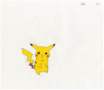 Authentic Pokemon Anime Production Cel - Pikachu