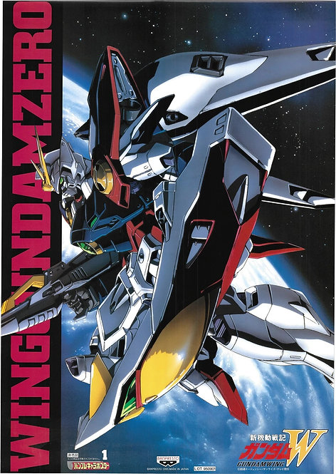 Original Mobile Suit Gundam Wing Vintage Anime Poster