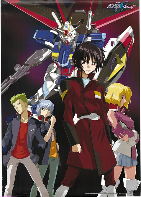 Original Mobile Suit Gundam Seed: Destiny Anime Poster - CONDITION