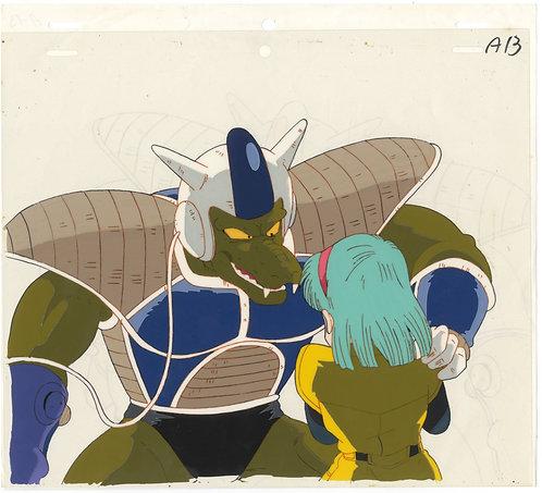 Original Dragon Ball Z Anime Cel -Bulma & Alien