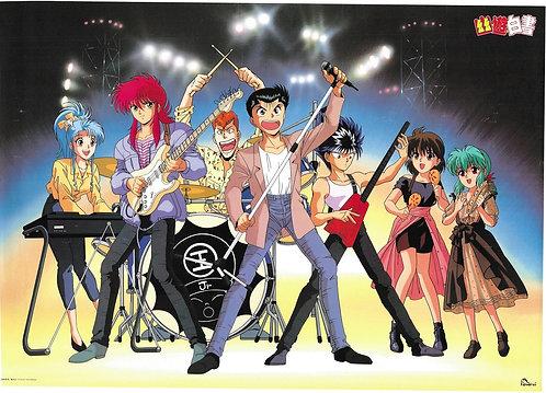 Original Yu Yu Hakusho Vintage Anime Poster - USED