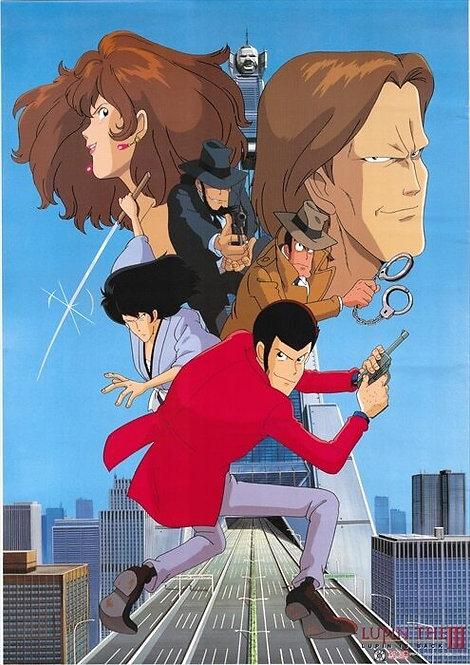 Original Lupin III Vintage Anime Poster