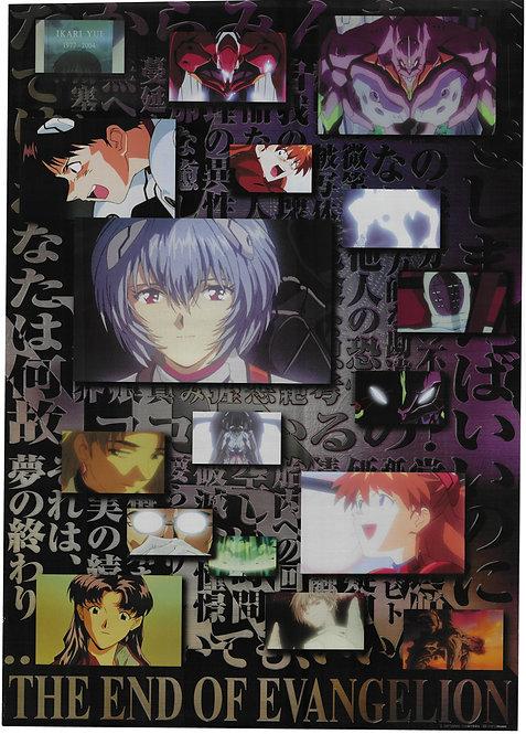Original Neon Genesis Evangelion: The End of Evangelion Foil Movie Poster
