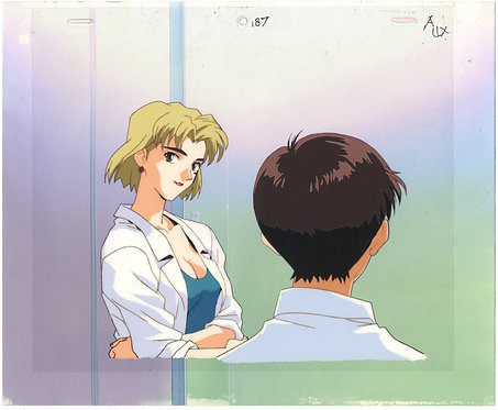 Original Neon Genesis Evangelion Vintage Anime Cel