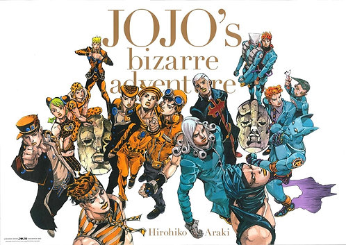 Original JoJo's Bizarre Adventure 2012 Exhibition Poster