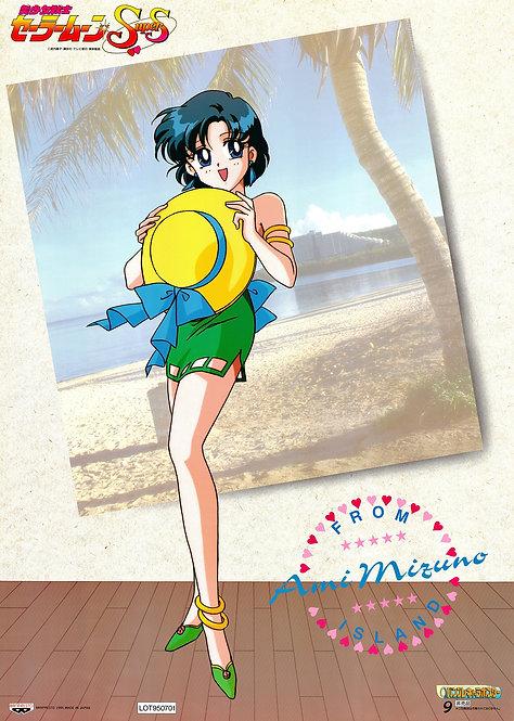 Original Sailor Moon SuperS Anime Poster - Ami Mizuno