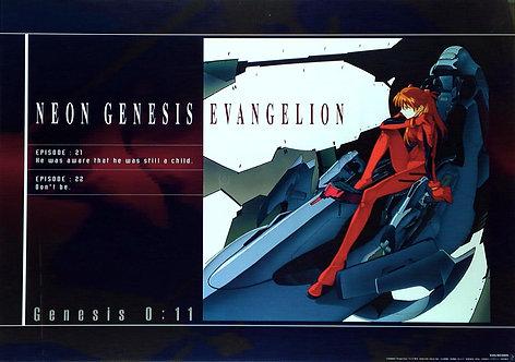 Original Neon Genesis Evangelion Episodes 21 & 22 Poster
