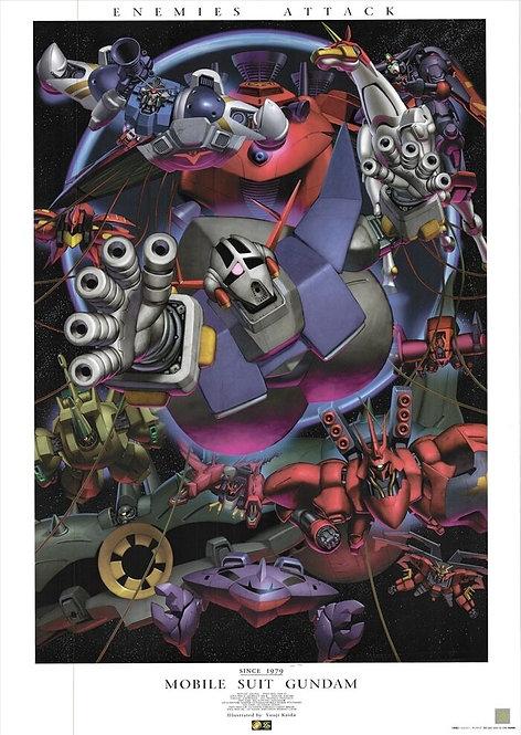 Original Mobile Suit Gundam - Enemies Attack Anime Poster