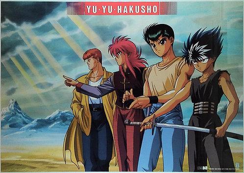 Original Yu Yu Hakusho Vintage Anime Poster - DAMAGE