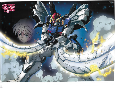 Original Mobile Suit Gundam Wing: Endless Waltz Movie Poster - DAMAGE