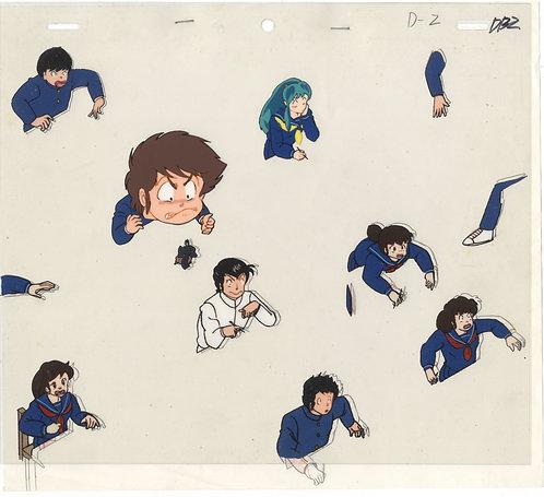 Original Urusei Yatsura Anime Production Cel - Lum's Class