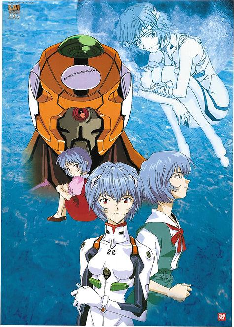 Original Neon Genesis Evangelion Anime Poster - Ayanami Rei