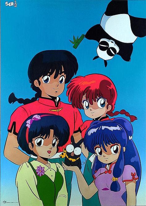 Original Ranma 1/2 Vintage Anime Poster - USED