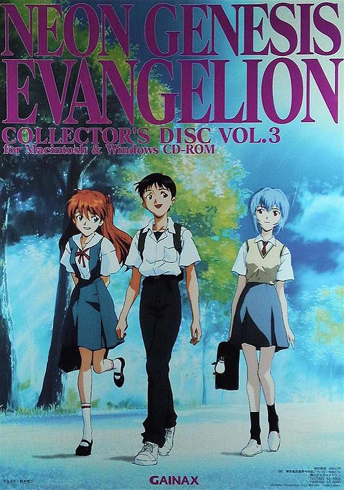 Original Neon Genesis Evangelion Collector's Disc 3 Poster