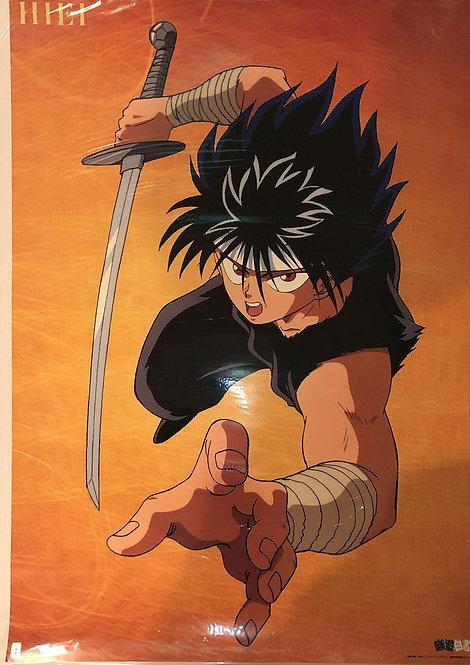 Original Yu Yu Hakusho - Hiei -  Vintage Anime Poster - DAMAGE