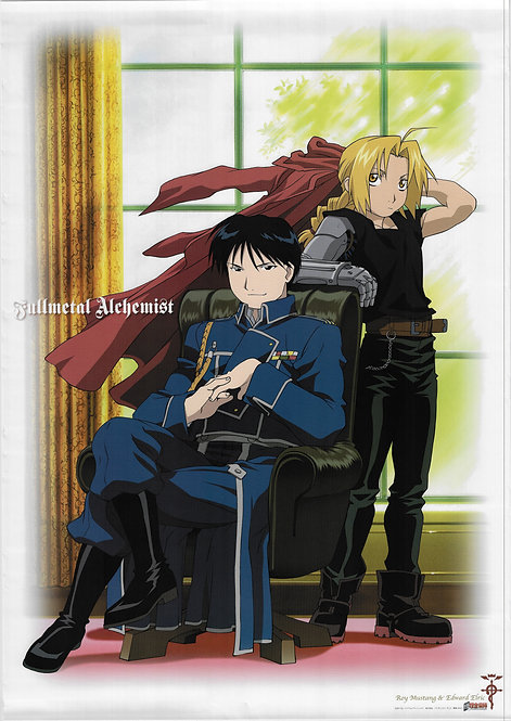 Original Fullmetal Alchemist - Edward Elric and Roy Mustang - Anime Poster