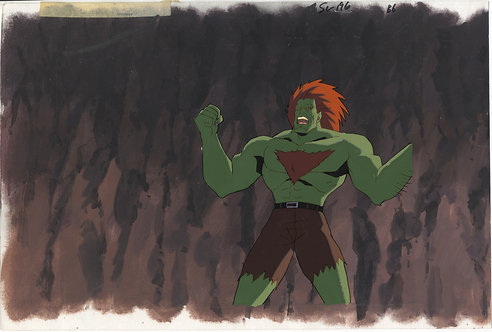 Street Fighter II : The Animated Movie Production Cel - Blanka